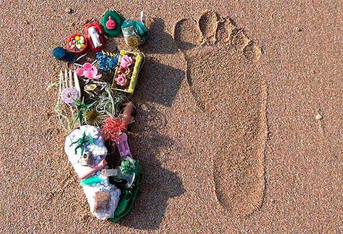 Plastic footprint - Пластиковый след